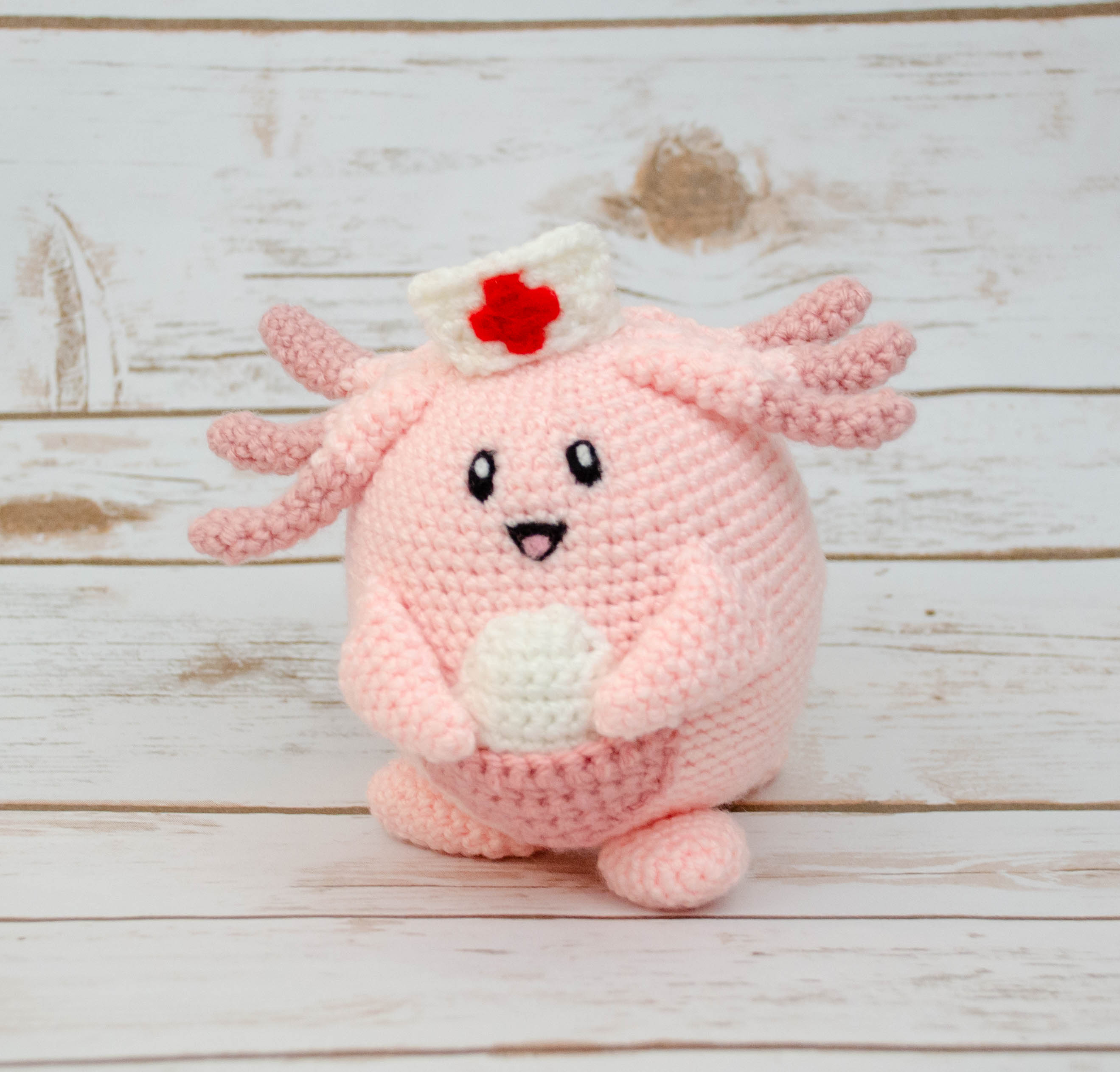 A free pattern for how to make a crochet amigurumi nurse with ... | 2526x2639